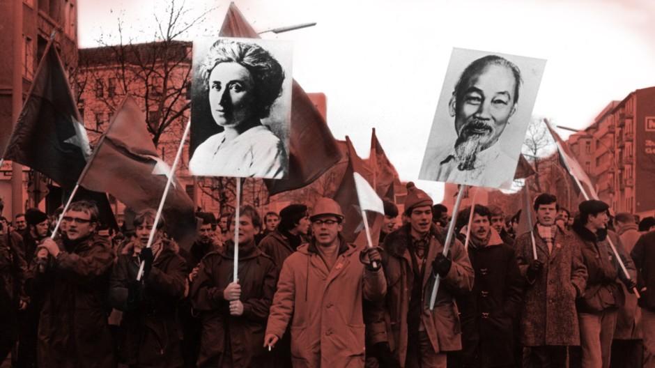 Vietnam-Demonstrationn im Februar 1968 in Berlin