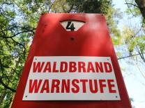 Teils hohe Waldbrandgefahr in Sachsen