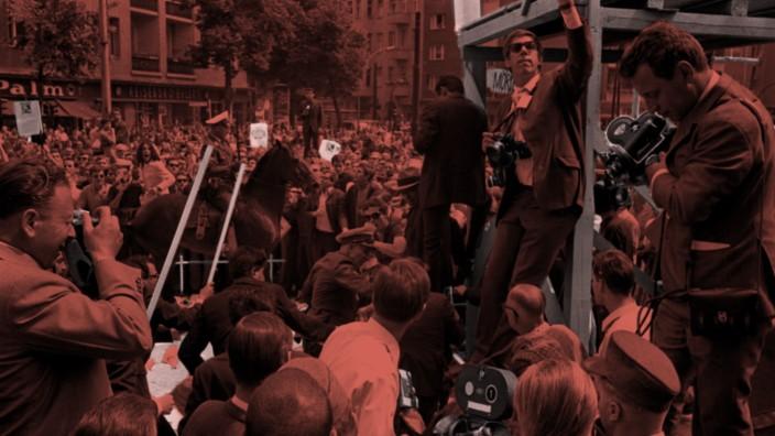 Student Ohnesorg bei Anti-Schah-Demo erschossen