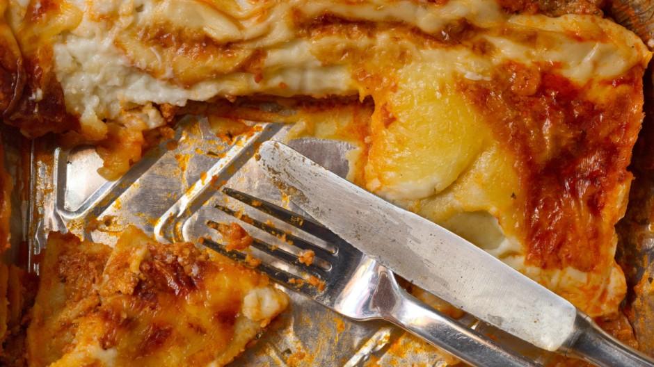 Gericht aus Alu-Schale