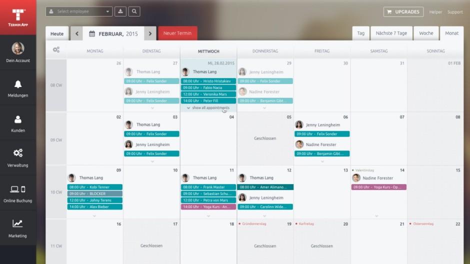 Screenshots Timify Online Kalender Terminplaner App Terminapp