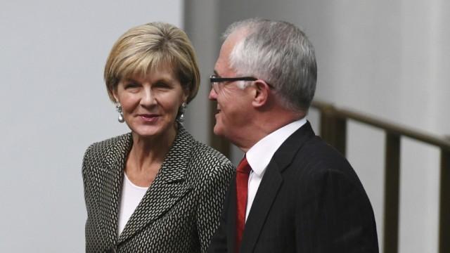 John McCain, Malcolm Turnbull, Julie Bishop