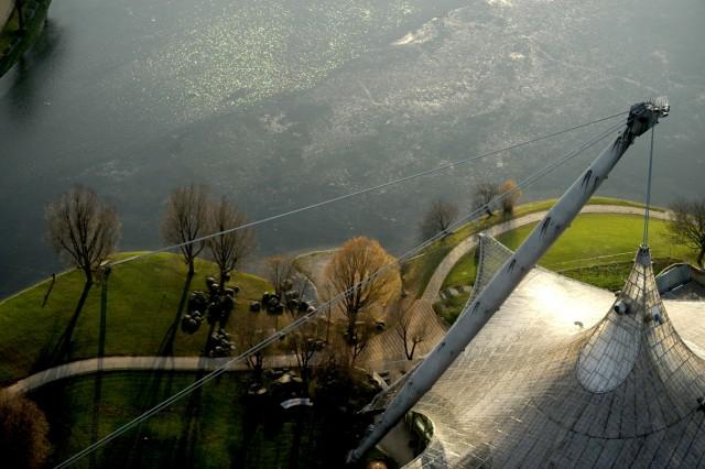 Blick vom Olympiaturm in München, 2016
