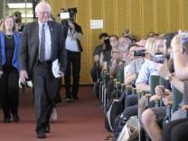 Der US amerikanische Senator Bernie Sanders hat an der Freien Universität FU Berlin eine Rede über