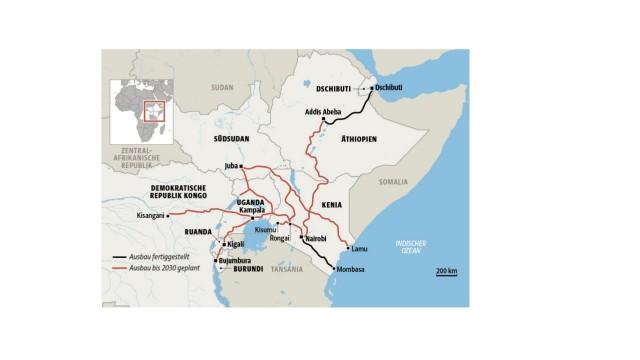 Karte Afrika-Express