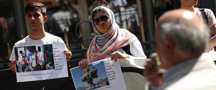 Afghans Protest Deportations Following Kabul Bombing