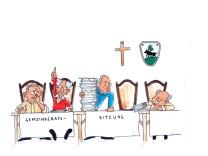 Karikatur Gemeinderat