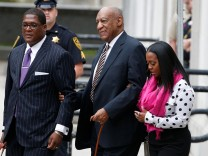 Actor and comedian Bill Cosby arrives for the first day of his sexual assault trial at the Montgomery County Courthouse in Norristown