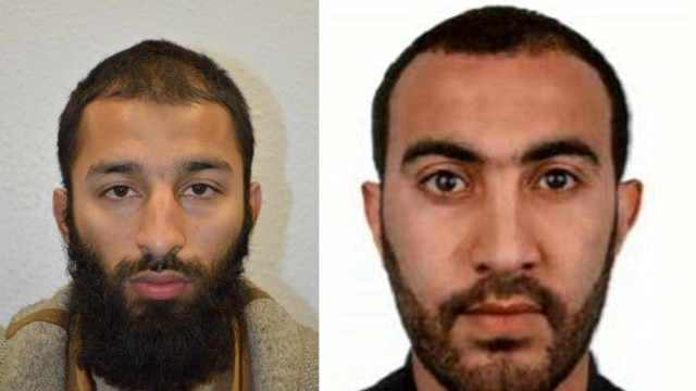 Two of the men shot dead by police following the attack on London Bridge and Borough Market on Saturday are seen in this undated combination image of two photographs, received in London