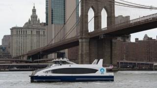 New York Mayor Bill De Blasio Rides New Citywide Ferries