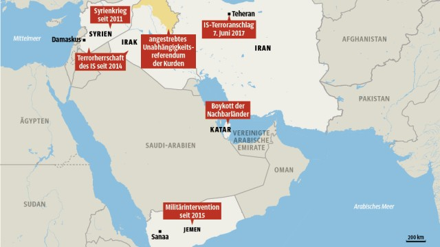 Karte Iran Nachbarlander.Spannungen Zwischen Saudi Arabien Und Iran Eskalieren