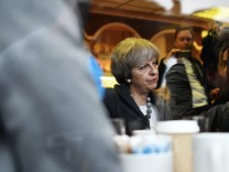 Theresa May Campaigns Around The UK