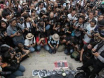 PROTEST DEMANDING JUSTICE FOR MURDER OF MEXICAN PHOTOGRAPHER