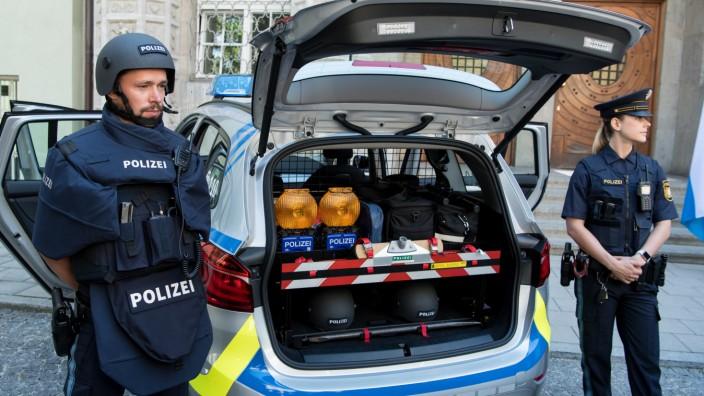 Neue Schutzausstattung der bayerischen Polizei