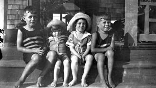 Joseph Kennedy Jr., Kathleen Kennedy, Rosemary Kennedy and John F. Kennedy in Cohasset
