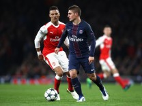 Arsenal FC v Paris Saint-Germain - UEFA Champions League; Verratti