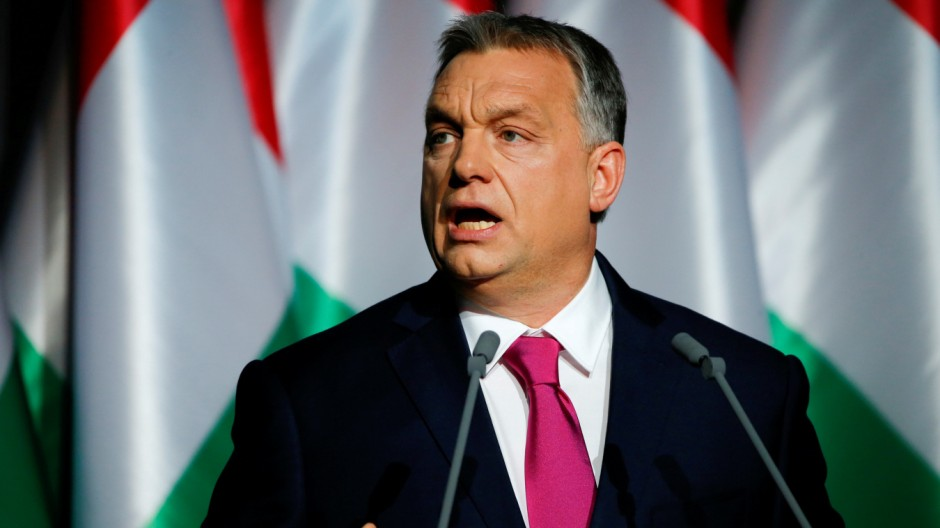 FILE PHOTO: Hungarian Prime Minister Viktor Orban during his state-of-the-nation address