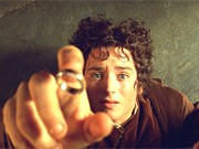 Elijah Wood als Hobbit Frodo im Film Herr der Ringe