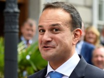 Leo Varadkar speaks to people as he leaves Government buildings after being elected by parliamentary vote as the next Prime Minister of Ireland to replace Enda Kenny in Dublin