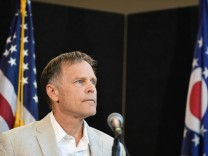 Fred Warmbier, father of Otto Warmbier, speaks during a news conference in Cincinnati