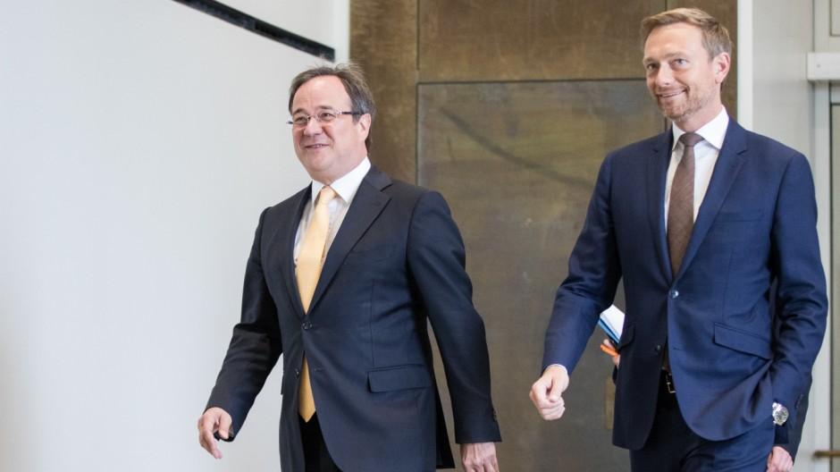 Vorstellung des Koalitionsvertrages in NRW