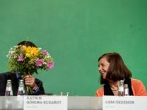 Cem Özdemir und Katrin Göring-Eckardt beim Grünen-Bundesparteitag in Berlin