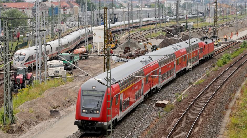 Behinderungen bei der Bahn im Großraum Leipzig·Dresden·Chemnitz