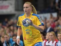 Saskia Lang HCL 18 beim Spiel Handballclub Leipzig HCL vs SG BBM Bietigheim Handball 1 Liga 1