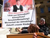 Demonstration gegen 3. Startbahn am Flughafen München, 2017