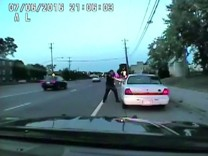 A still photo taken from a dashcam video shows the July 2016 police shooting of Philando Castile, a black motorist, during a traffic stop in Ramsey County, Minnesota