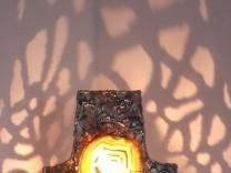 """Lichtobjekt von Thomas Bachmaier in der """"Kunstmeile von Eichendorff Ring, Dorfen"""""""