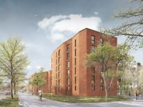GEWOFAG Bau von 327 Wohnungen an der Carl-Wery-Straße