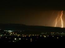 Blitze in Oberfranken