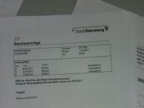Sitzungsunterlagen für die Presse, Stadtrat Starnberg
