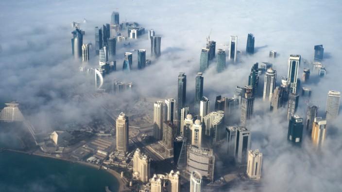 Fußball-WM in Katar - Skyline von Doha