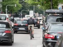 Fahrradfahrer auf der Rosenheimer Straße in München, 2015