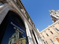 FILE PHOTO: A Banca Popolare di Vicenza sign is seen in Rome
