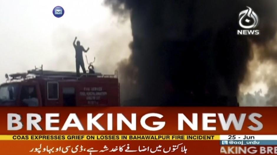 Unfall Brand nach Unfall
