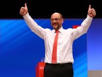 SPD-Kanzlerkandidat Martin Schulz nach seiner Rede in Dortmund