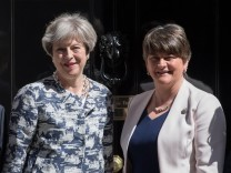 The Prime Minister Meets DUP Leader At Downing Street