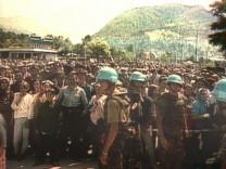 Niederländische UN-Soldaten in Potocari