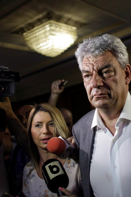 Economy Minister Mihai Tudose, RomaniaâÄÖs ruling Social Democrats pick to replace the prime minister they ousted last week, talks with media in Bucharest