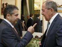 Außenminister Gabriel in Russland