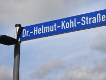 Helmut-Kohl-Straße auf Usedom