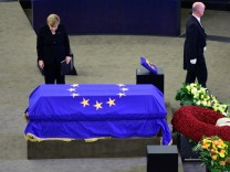 European Parliament Holds Helmut Kohl Memorial