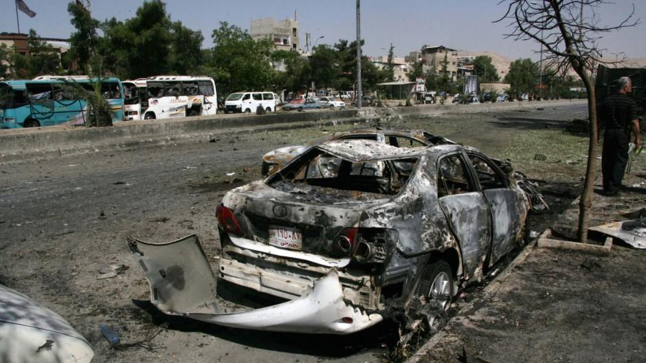 Autobombenexplosion in Damaskus
