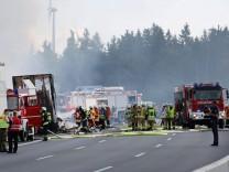 Unfall Reisebus in Münchberg