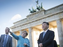 Chancellor Angela Merkel meets Chinese President Xi Jinping