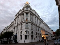 The 'Atlantic' hotel is pictured in Hamburg