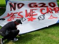 G20-Gipfel · Protestcamp im Volkspark Altona; Jetzt g20